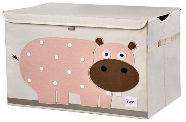 3 Sprouts Speelgoedkist - Nijlpaard