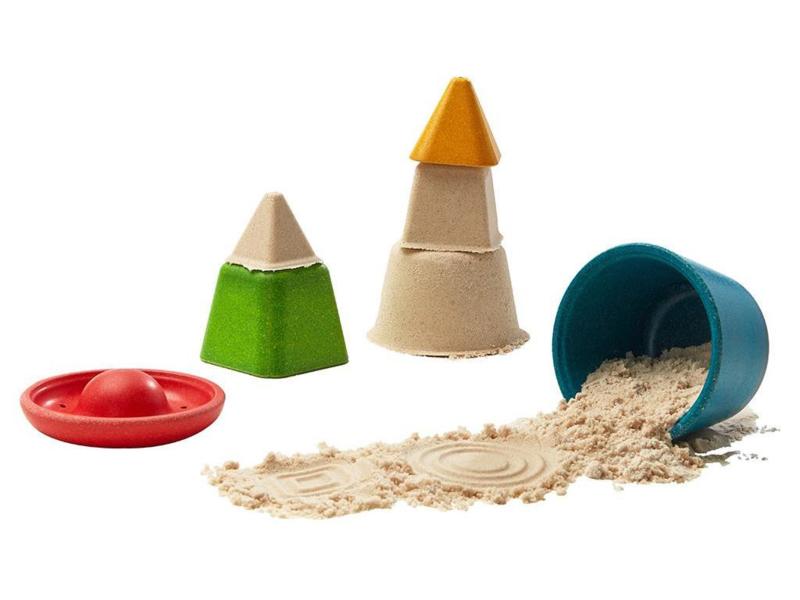 Plantoys Houten Creatieve Zand Speelset - Set van 4