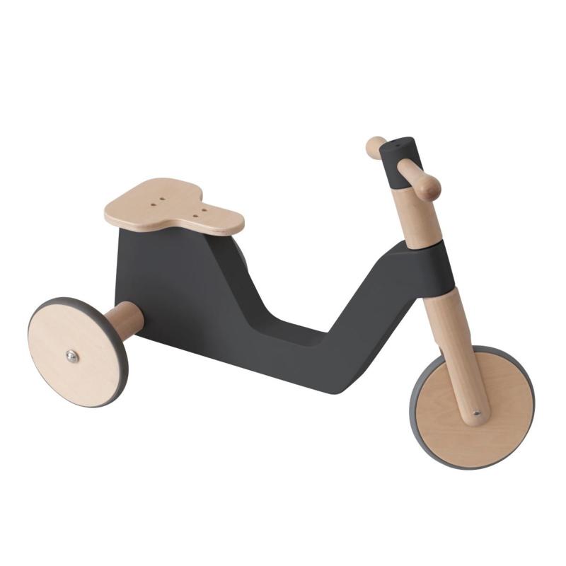 Sebra Houten Scooter - Classic Black