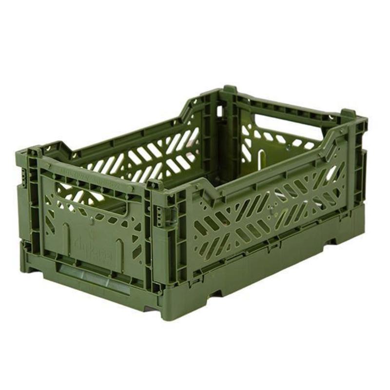 AyKasa Folding Crate Mini Box - Khaki