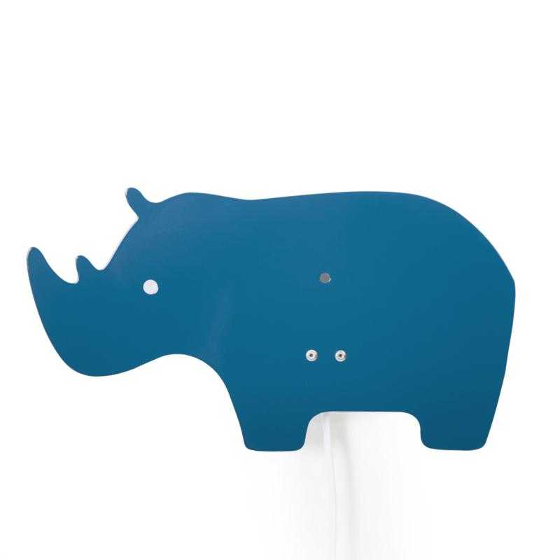 Roommate Lamp Rhino - Neushoorn Blauw