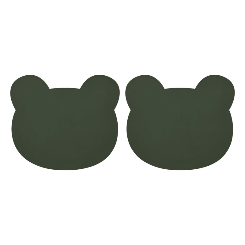 Liewood Gada Placemat Mr. Bear - Hunter Green (set van 2)