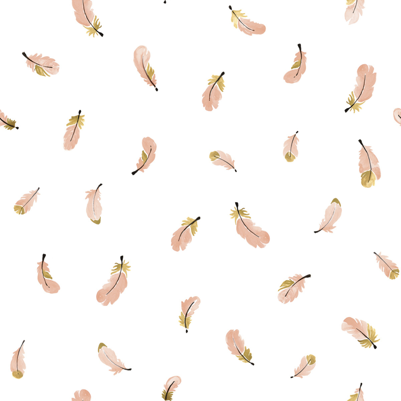 Lilipinso Flamingo Behang - Flamingo Veertjes