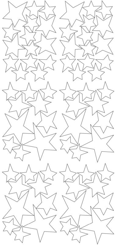 Pom Muurstickers - Sterretjes (wit)