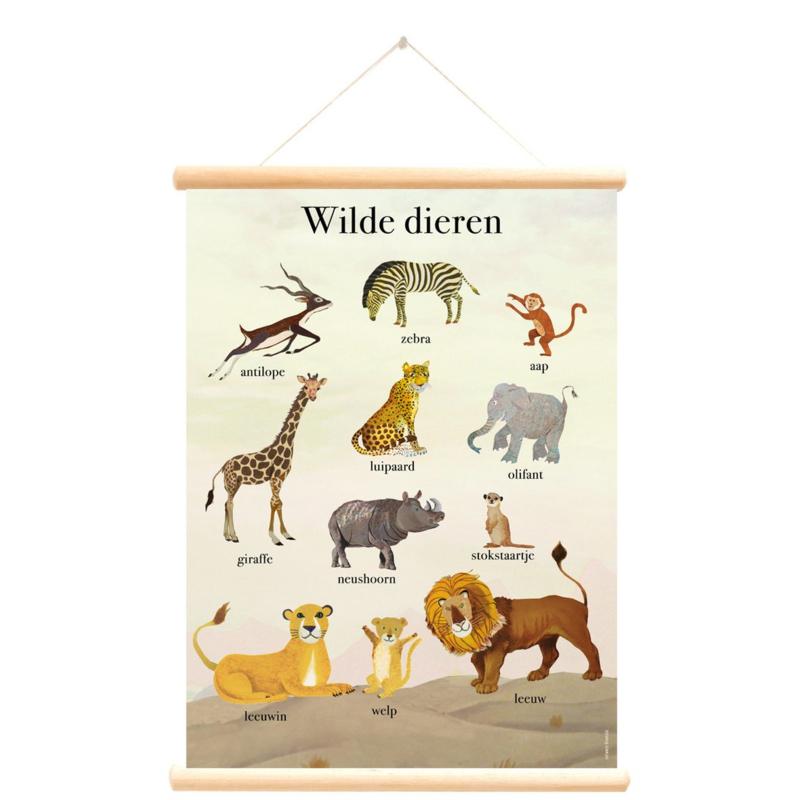 Little and Pure Schoolplaat Grootzus - Wilde Dieren (dubbelzijdig)