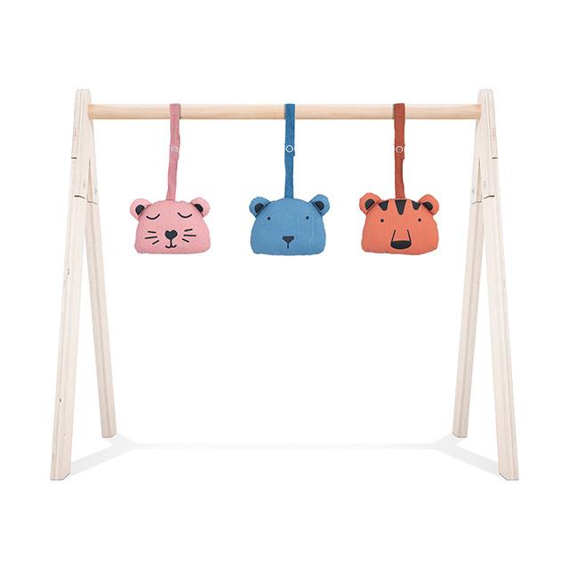 Jollein Babygym Speeltjes Animal Club - Rouge (set van 3)