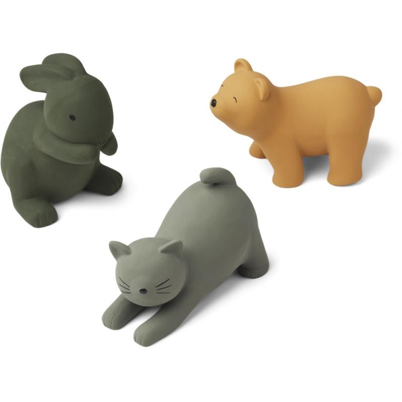 Liewood David Bath Toys Badspeeltjes - Green Multi Mix (3 stuks)