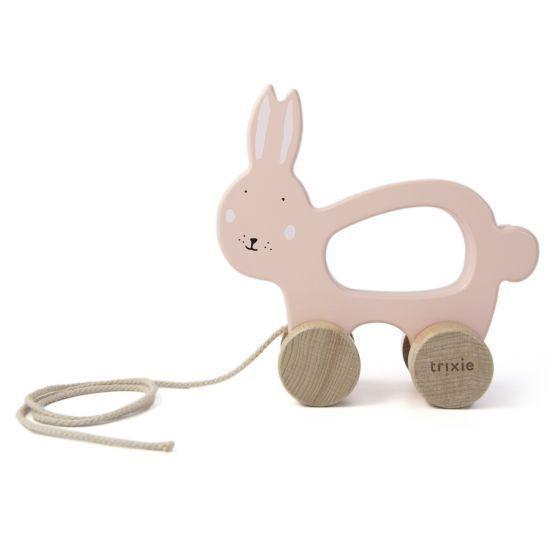 Trixie Houten Trekdiertje - Mrs. Rabbit