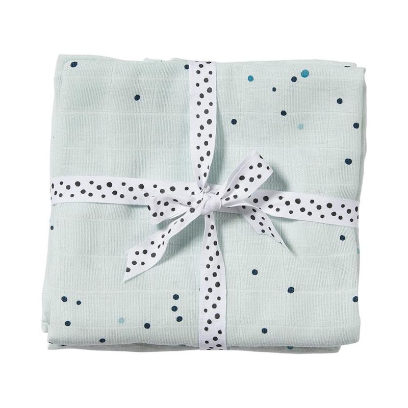 Done by Deer Spuugdoek Burp Cloth Dreamy Dots - Blauw (set van 2)
