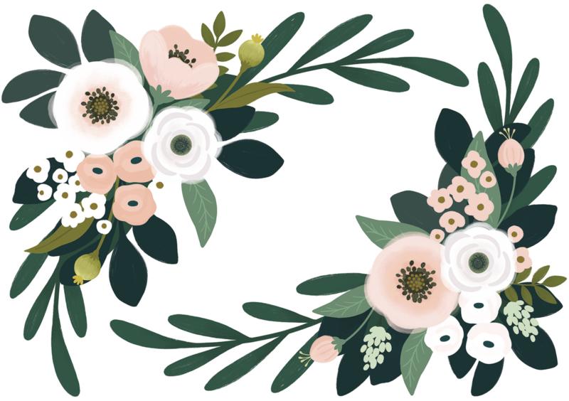 Lilipinso Wonderland Muursticker XL - Floral Ornament