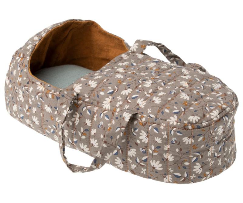 Maileg Quilt Carry Cot Ochre