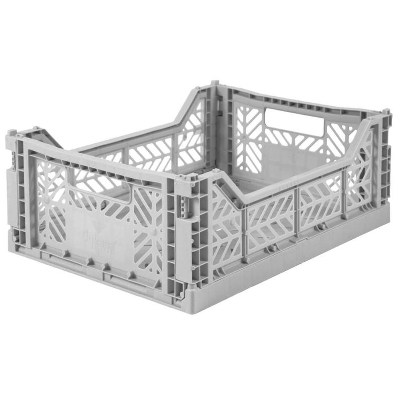 AyKasa Folding Crate Midi Box - Grey