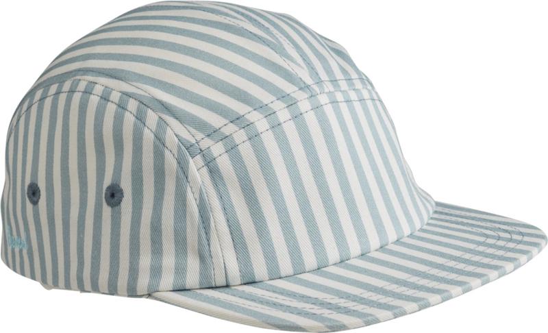 Liewood Pet Rory Cap - Stripe Sea Blue (5-8 jaar)