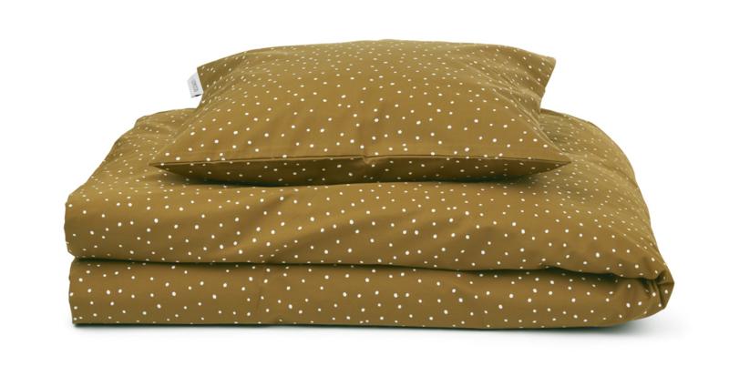 Liewood Carl Adult Bedding Eenpersoons Dekbedovertrek - Confetti Olive