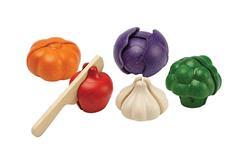 Plantoys Houten Groente Set (6 delig) - Kromkommer
