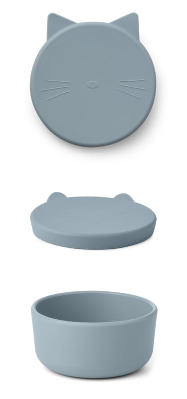 Liewood Cornelius Snack Box - Cat Sea Blue