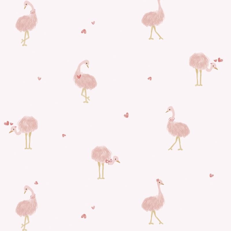 Lilipinso Coquette Behang - Struisvogels