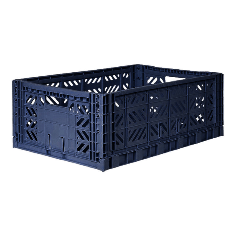 AyKasa Folding Crate Maxi Box - Navy
