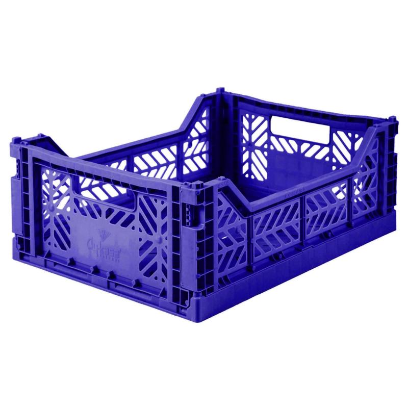 AyKasa Folding Crate Midi Box - Sax Blue