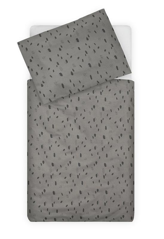 Jollein Ledikant Dekbedovertrek Set Spot - Storm Grey (100 x 140 cm)