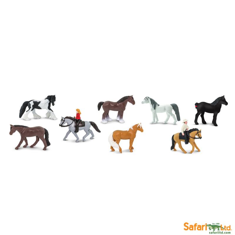 Safari Speelfiguren Toob Set - Paarden met Ruiters