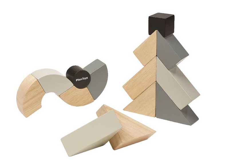 Plantoys Houten Blokken - Twisted Blocks