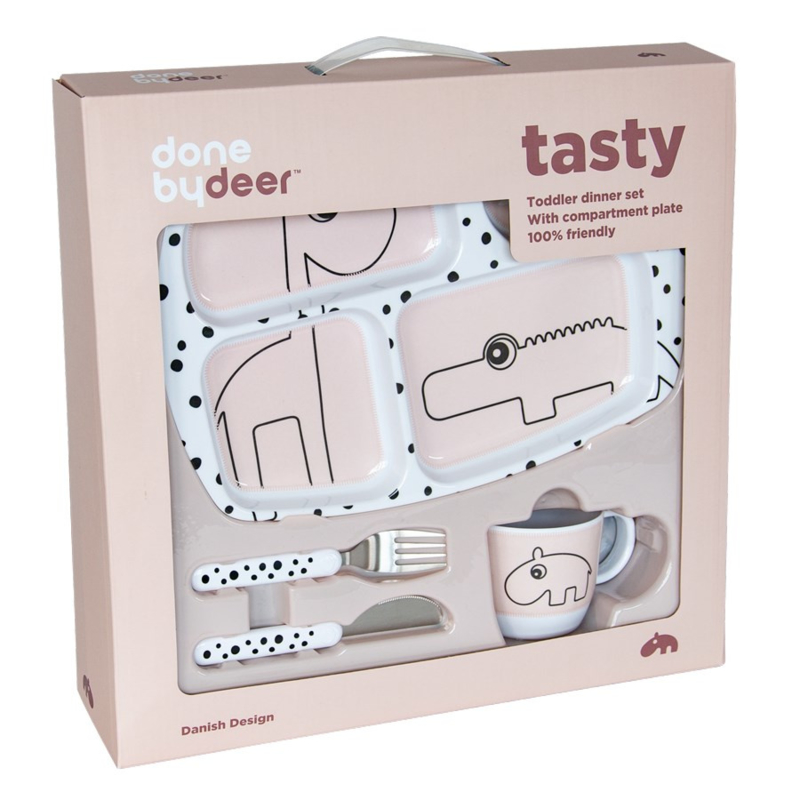 Done by Deer Toddler Dinner Set Happy Dots - Roze