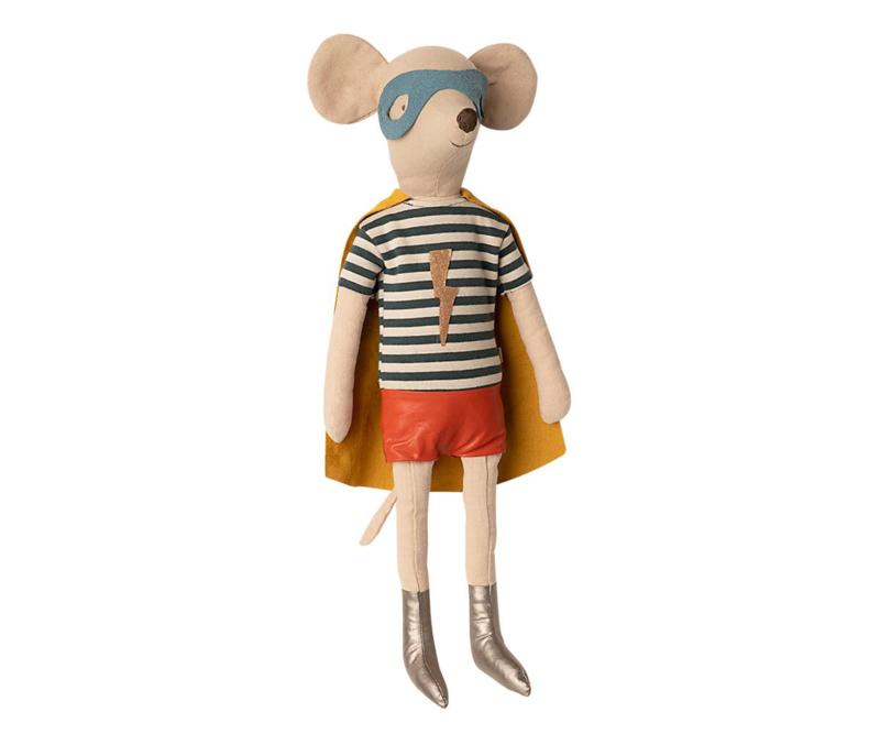 Maileg Knuffel Muis Super Hero Mouse Maxi - Boy