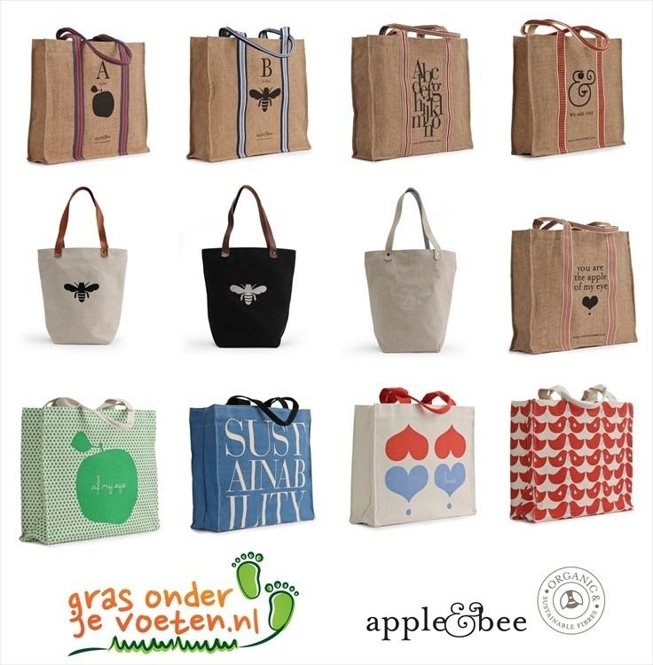 Publicatie - Naoki.nl / Apple & Bee jute en canvas tassen - 11/09/2012