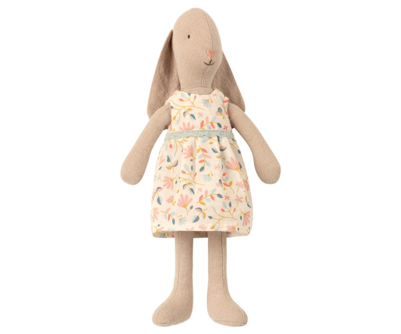 Maileg Bunny with Flower Dress - Size 1 (22 cm)