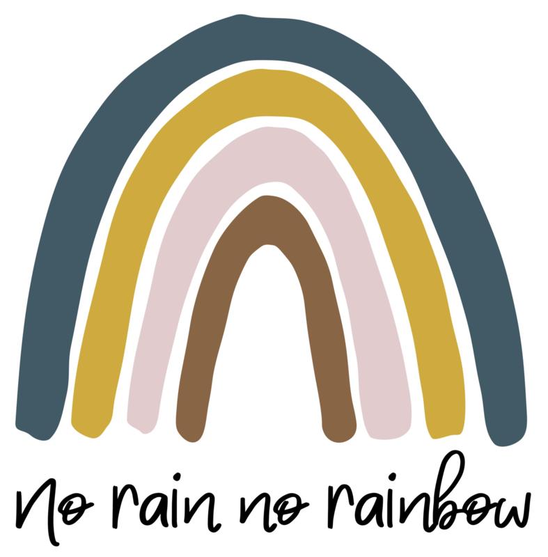 Pom Muurstickers Regenboog Groot - Mix Blauw