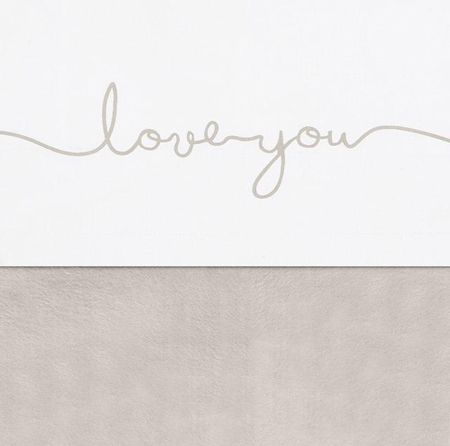 Jollein Wieg Laken Love You - Nougat (75 x 100 cm)