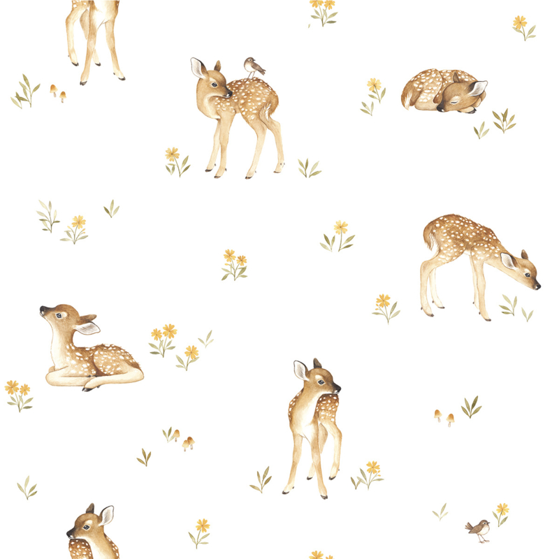 Lilipinso Oh Deer Behang - Fawns