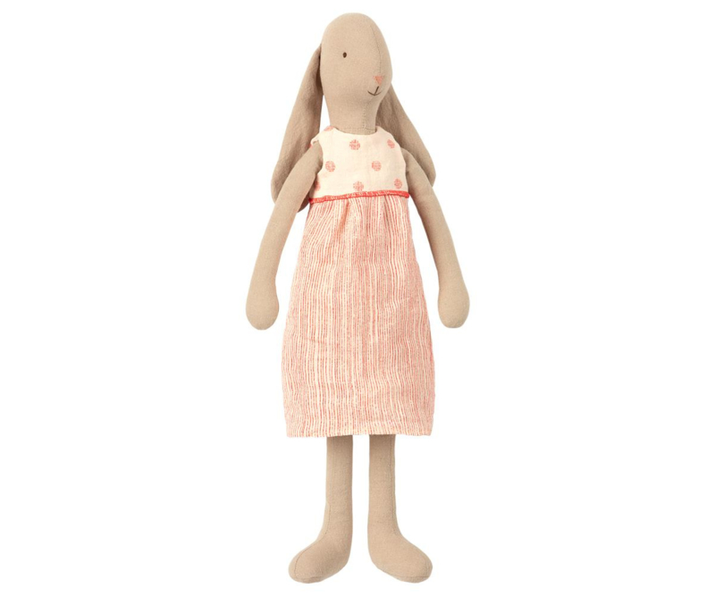 Maileg Bunny with Dress Off White - Size 3 (42 cm)