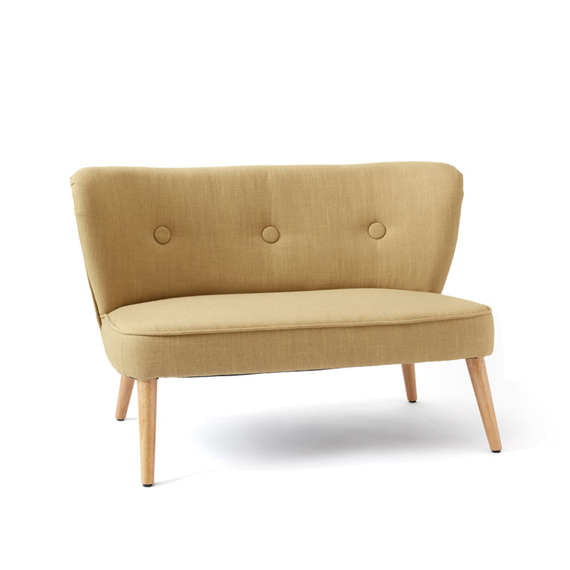 Kids Concept Sofa Bank - Lichtgeel