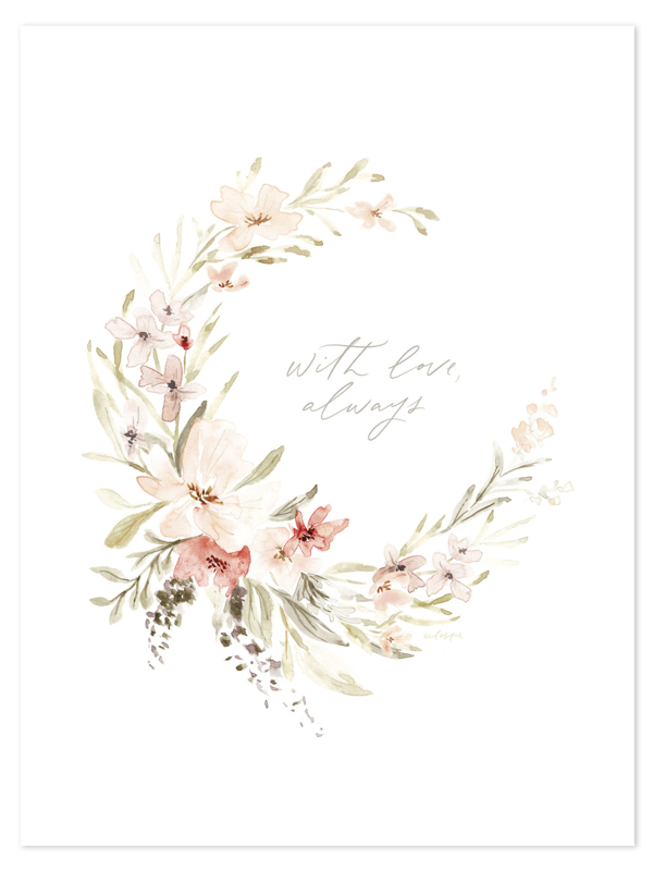 Lilipinso Appoline Poster - Watercolor Floral (30x40cm)