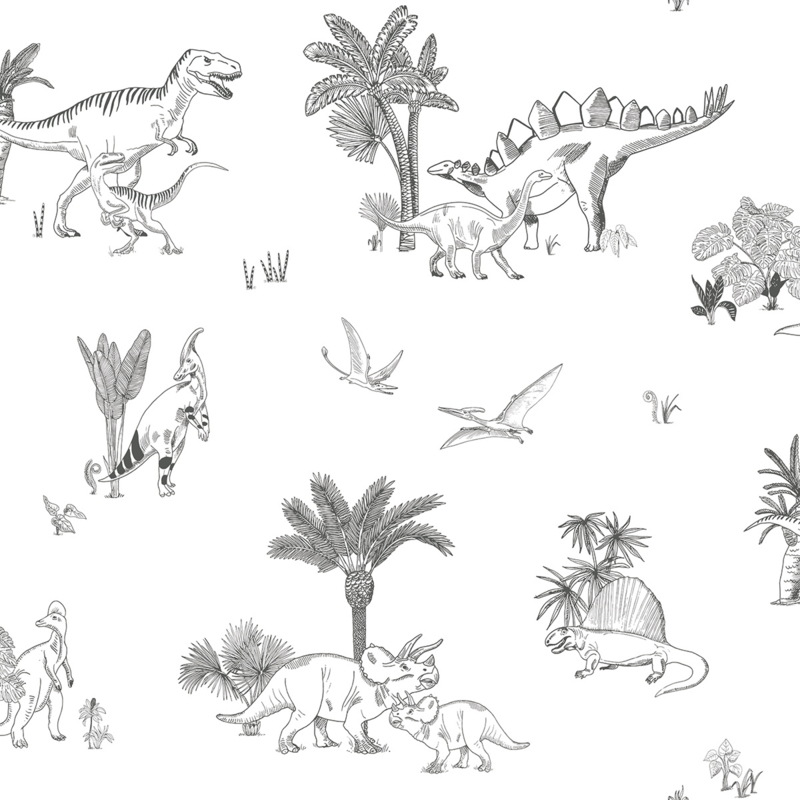 Lilipinso Dinosaurus Behang - Dinosaurus
