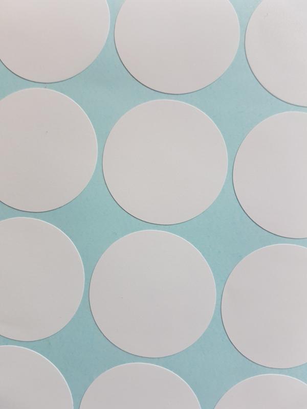 Pom Muurstickers - Confetti (wit)