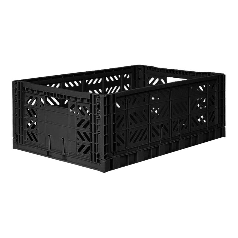 AyKasa Folding Crate Maxi Box - Black