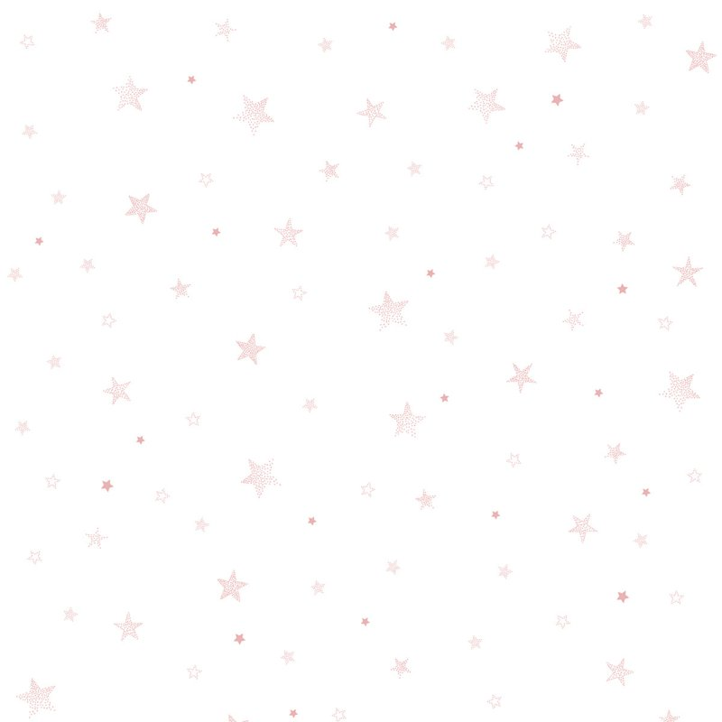 Lilipinso Behang Sample Stardust Behang - Stars Pink