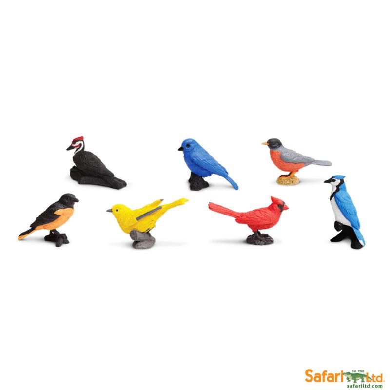 Safari Speelfiguren Toob Set - Vogels in de Tuin