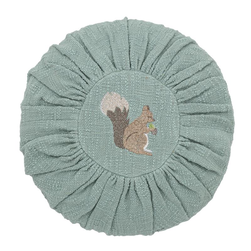 Bloomingville Kussen Squirrel - Groen Eekhoorn