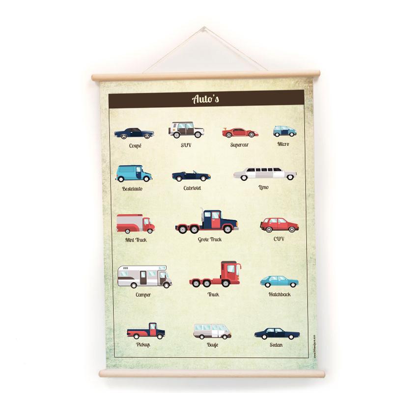 Schoolplaat - Auto's (dubbelzijdig)