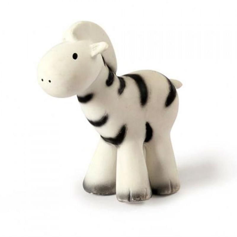 Tikiri Bijt- en Badspeelgoed met Rammelaar - Zebra