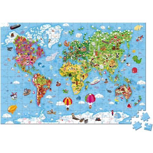Janod Puzzel - De Wereld Gigant (vanaf 7 jaar)