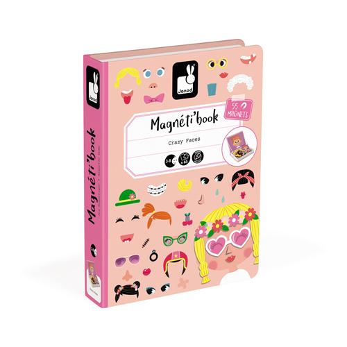 Janod Magneetboek - Gekke Gezichten Meisjes