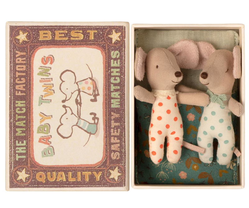 Maileg Baby Mice Twins in Box (8 cm)