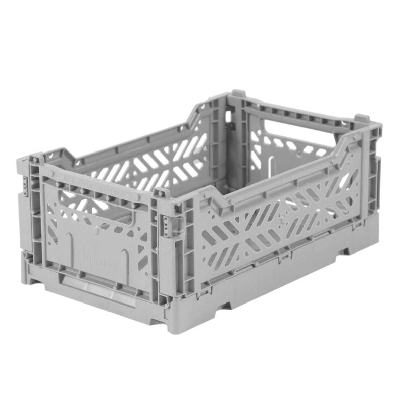 AyKasa Folding Crate Mini Box - Grey