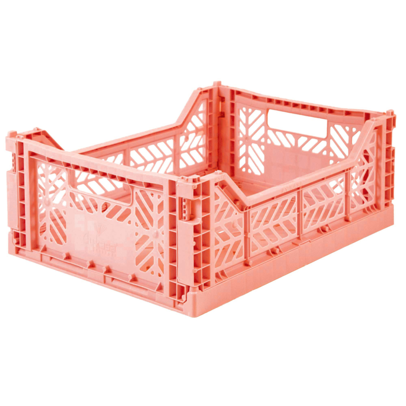 AyKasa Folding Crate Midi Box - Salmon