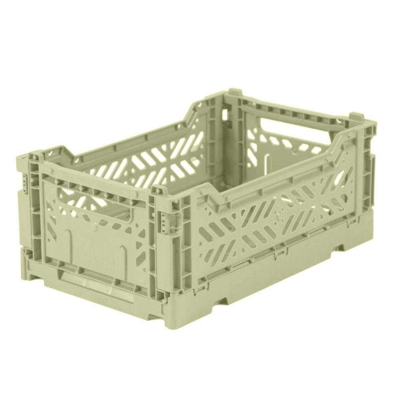 AyKasa Folding Crate Mini Box - Lime Cream